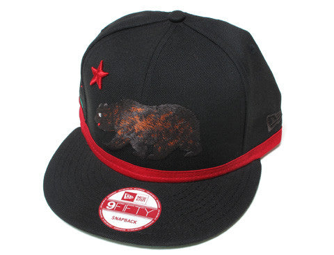 Cali True Bear New Era Snapback Cap Black