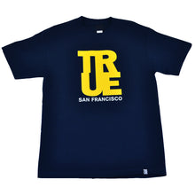 Load image into Gallery viewer, Mens True Logo SF T-Shirt Navy/Yellow - Shop True Clothing