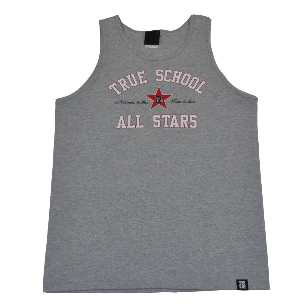 True Mens All Stars Tank Top Heather Grey - Shop True Clothing