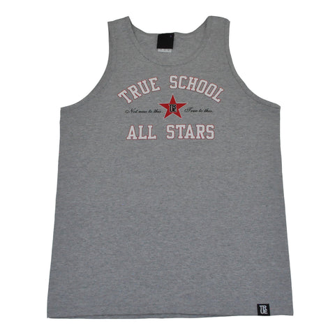 True Mens All Stars Tank Top Heather Grey