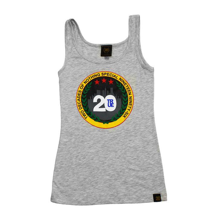 True Womens Two Decades Tank Top Heather