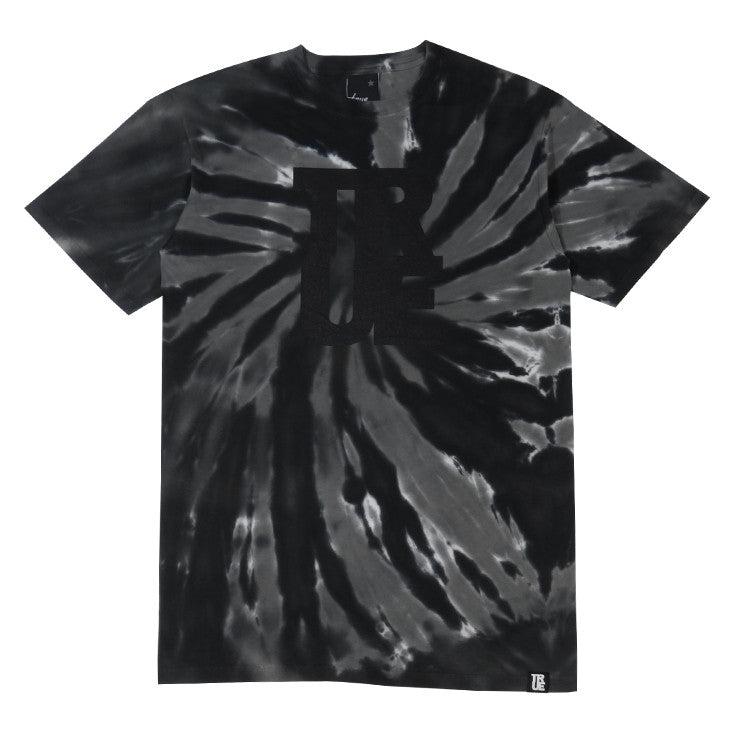 Mens Logo Tye-Dye T-Shirt Black - Shop True Clothing