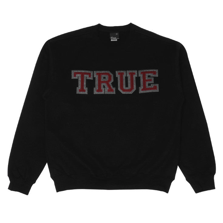 Mens True Vapid Crewneck Sweatshirt Black - Shop True Clothing