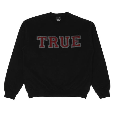 Mens True Vapid Crewneck Sweatshirt Black