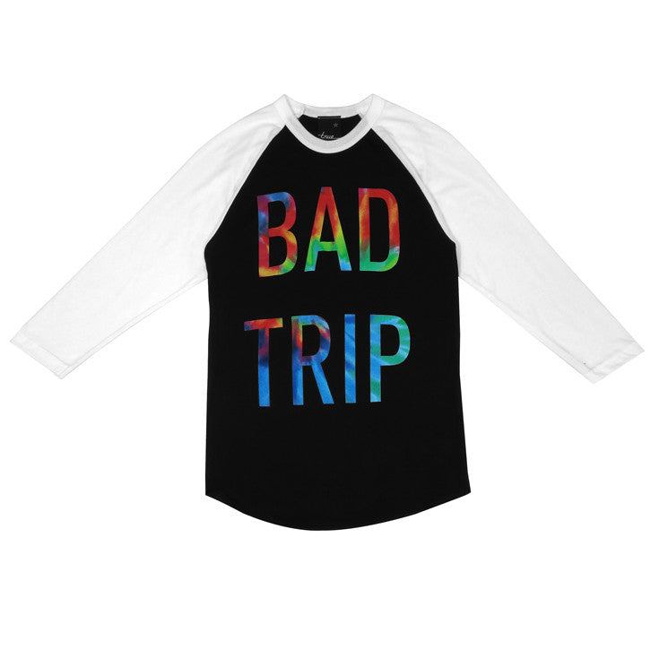 Womens True Bad Trip Raglan T-Shirt Black