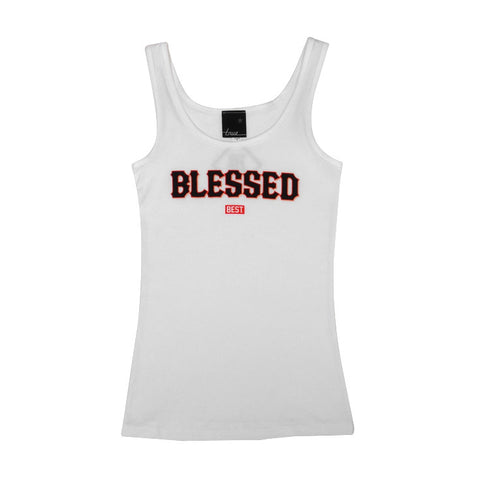 Womens True x Dj Amen x Breezy Blessed Tank Top White