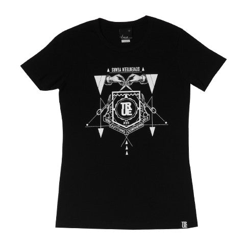 Womens True Cutting Corners T-Shirt Black