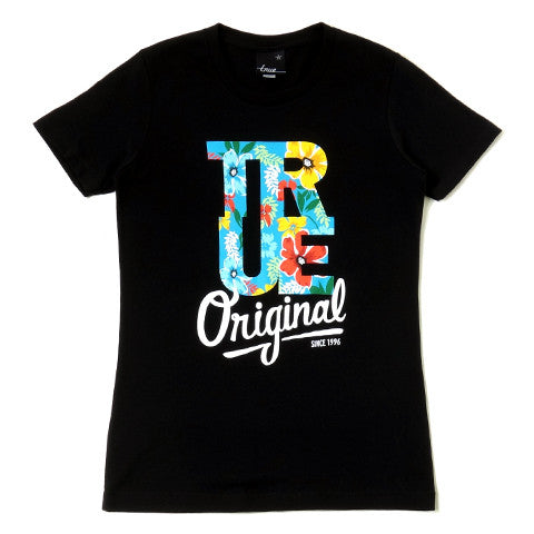 Womens True Floral T-Shirt Black - Shop True Clothing