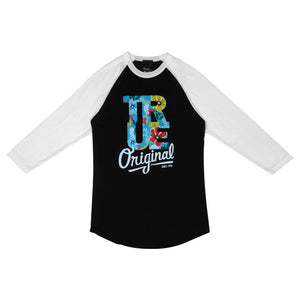 Womens True Floral Raglan T-Shirt Black - Shop True Clothing