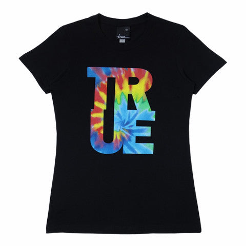 Womens True Hippie Dip T-Shirt Black