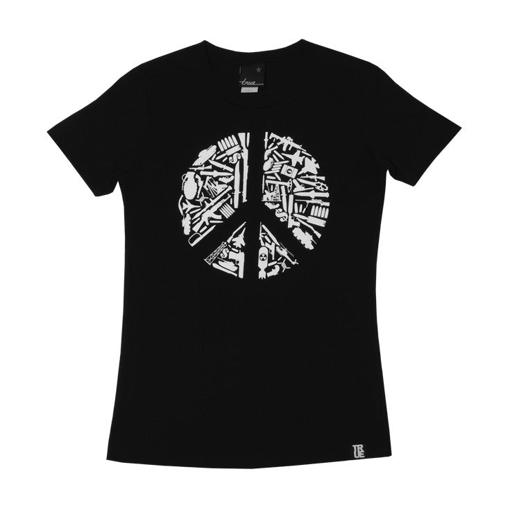 Womens True No Peace T-Shirt Black