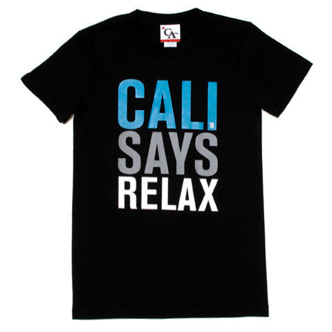 Womens Cali Relax T-Shirt Black