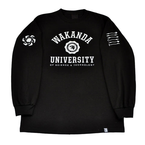 Mens True Wakanda U Long Sleeve T-Shirt Black