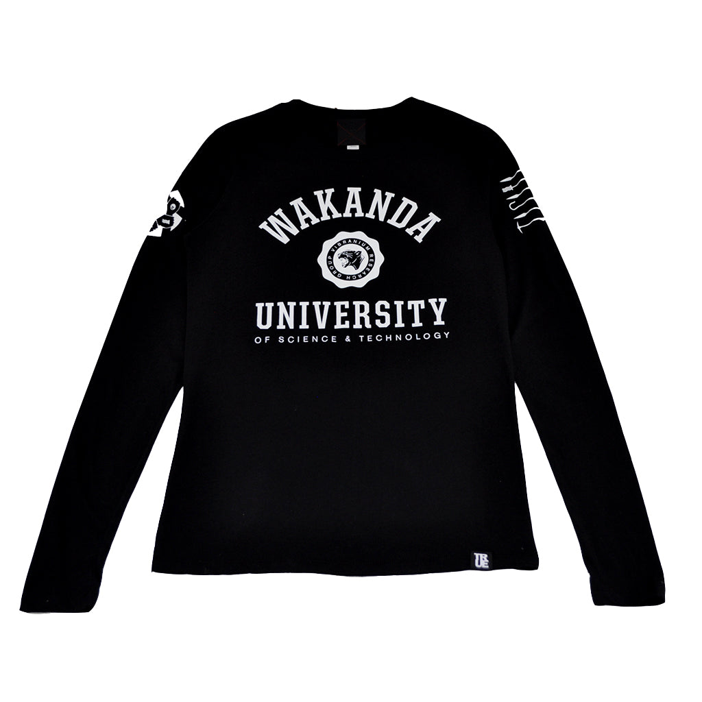 True Womens Wakanda U Long Sleeve T-Shirt Black - Shop True Clothing
