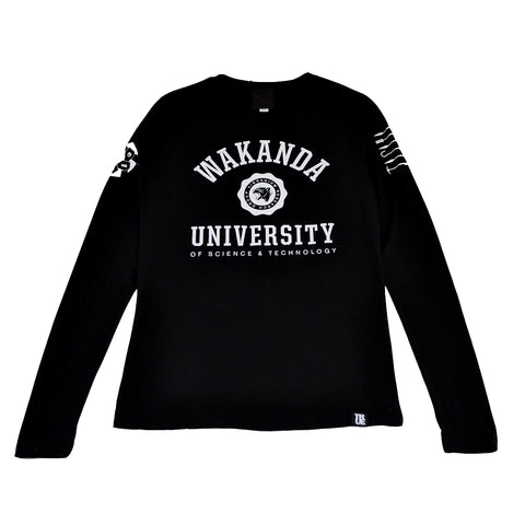 True Womens Wakanda U Long Sleeve T-Shirt Black