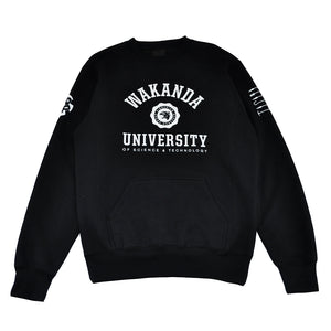 Mens True Wakanda U Crewneck Sweatshirt Black - Shop True Clothing