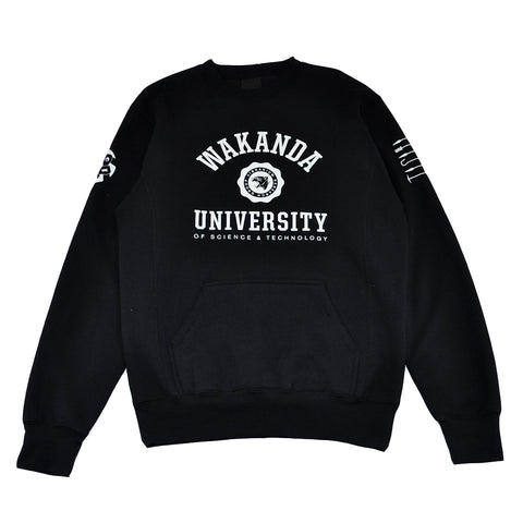 Mens True Wakanda U Crewneck Sweatshirt Black