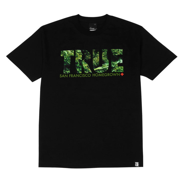 Mens True Weed T-Shirt Black