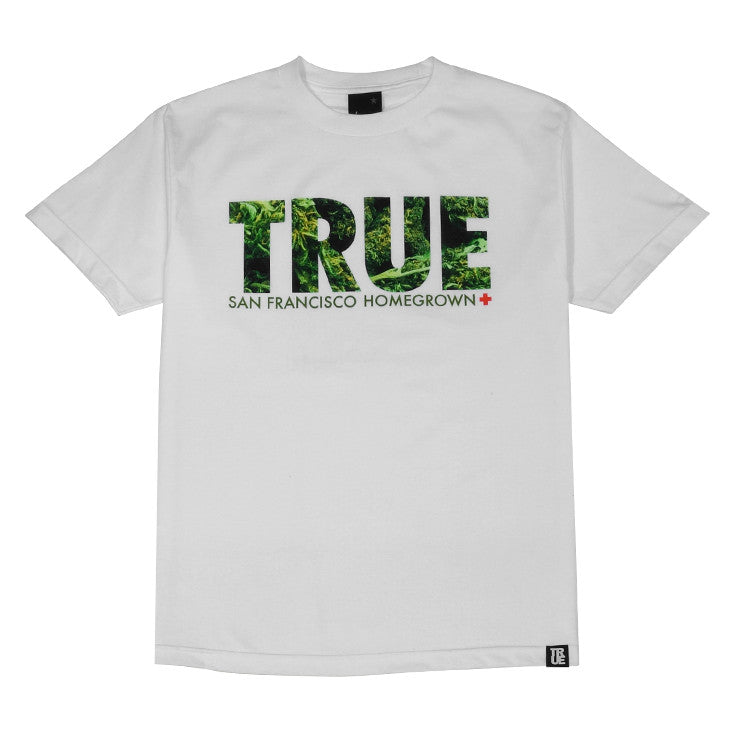 Mens True Weed T-Shirt White