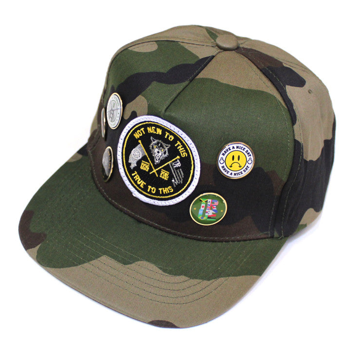 True Wolves Strapback Cap Camo - Shop True Clothing