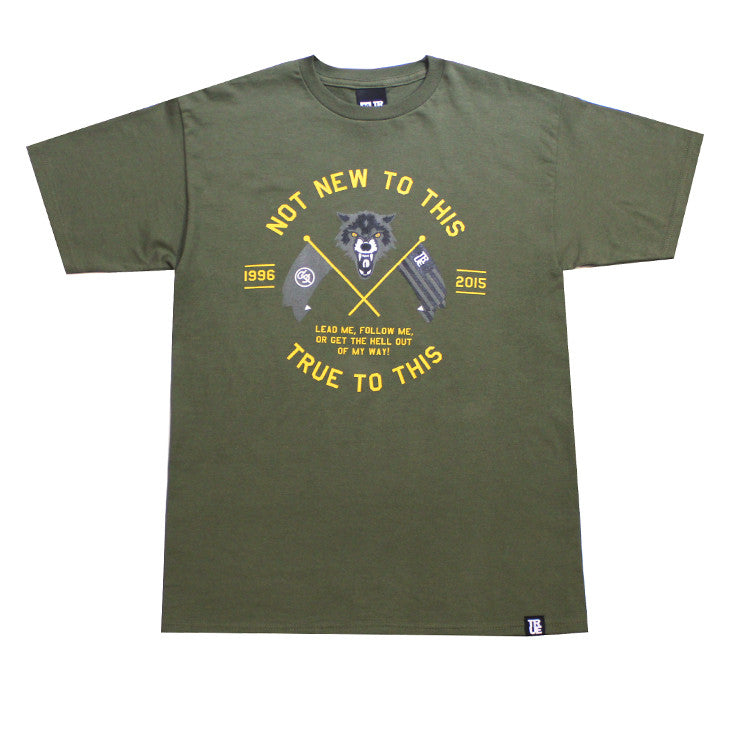 Mens True Wolves T-Shirt Army