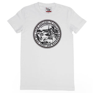 Womens Cali State Seal T-Shirt White - Shop True Clothing