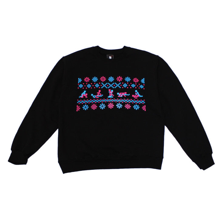 Mens True XXX-Mas Crewneck Sweatshirt Black