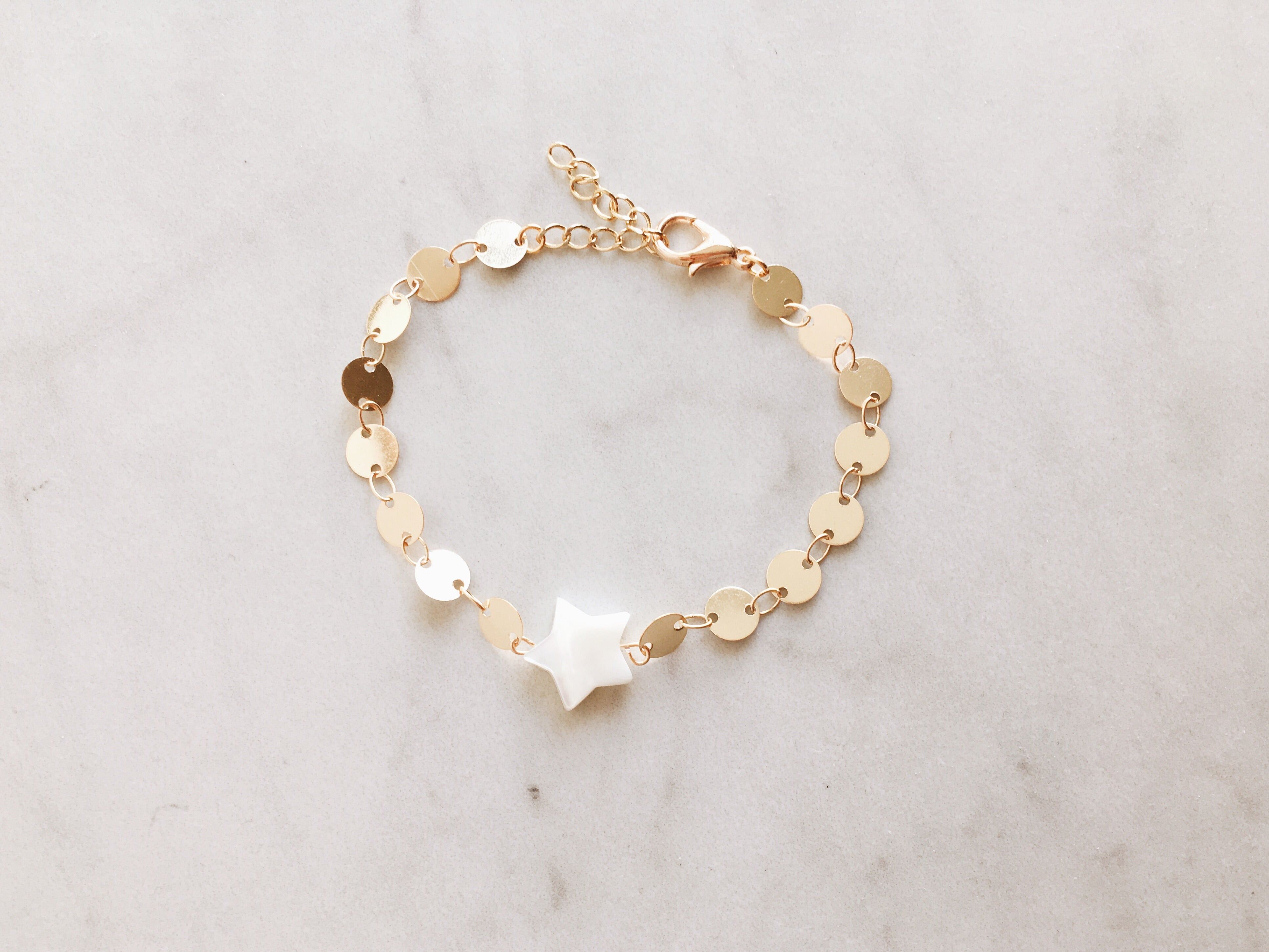 Mother of Pearl Star Bracelet