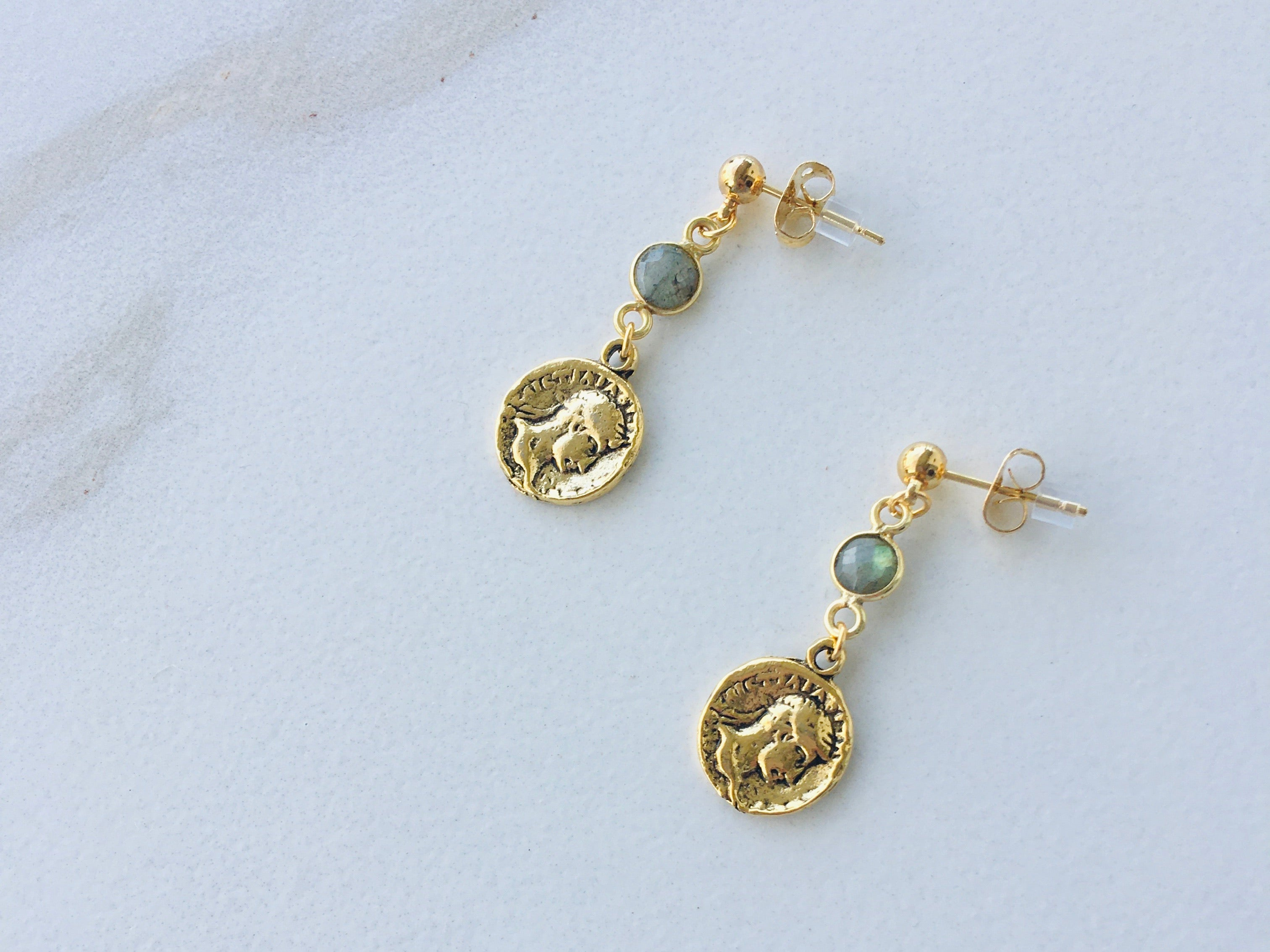 Petite Coin Earrings