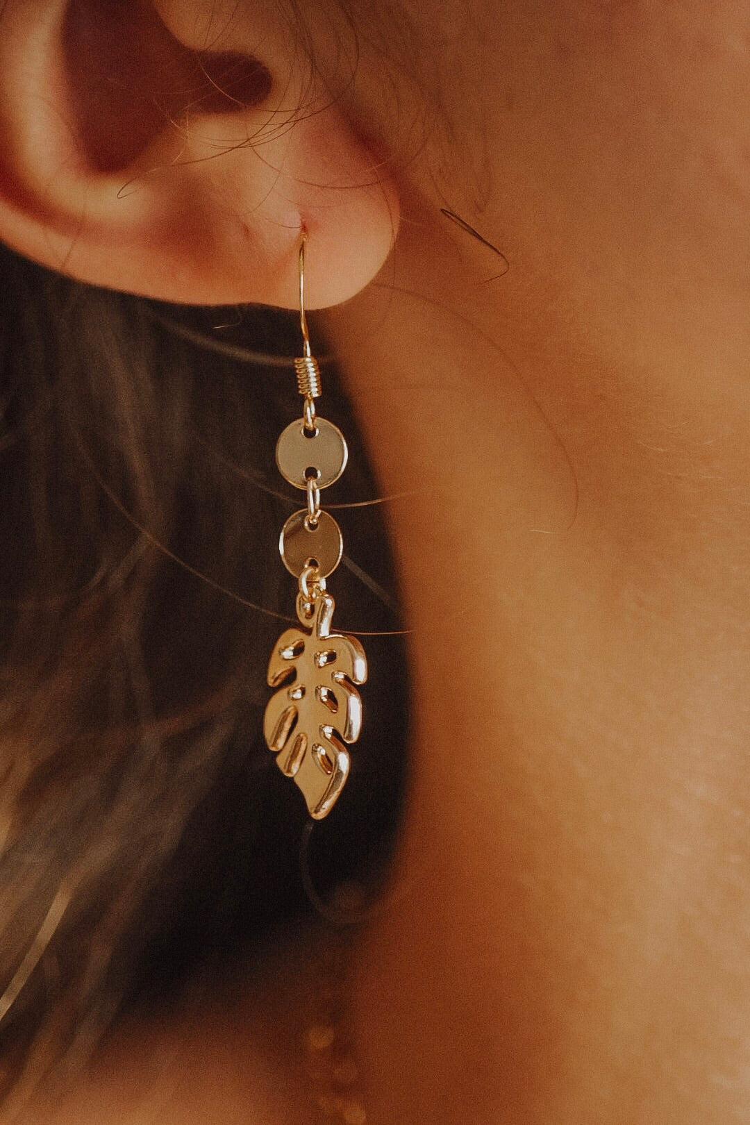 Golden Palm Earrings