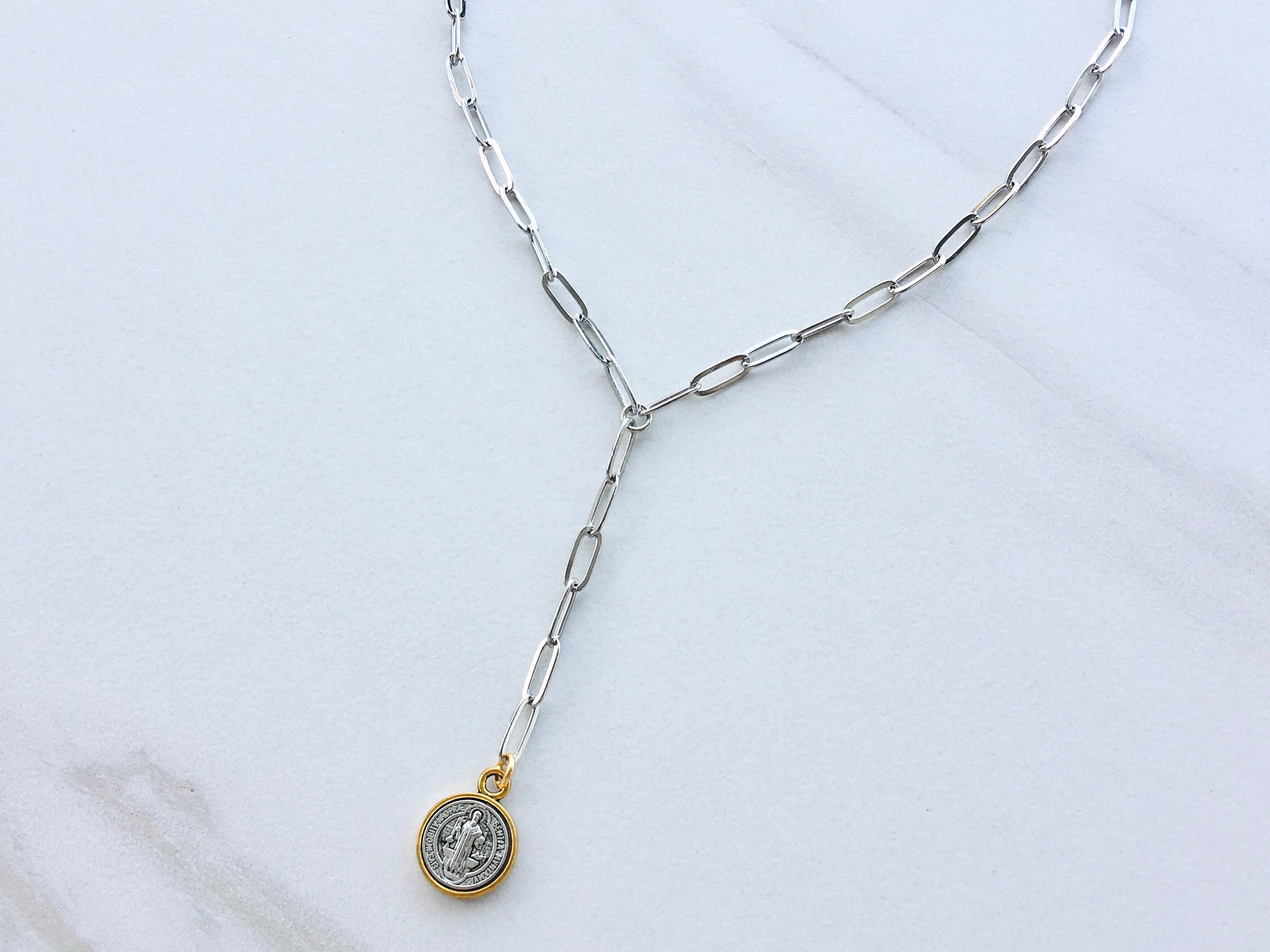Mighty Coin Lariat Necklace