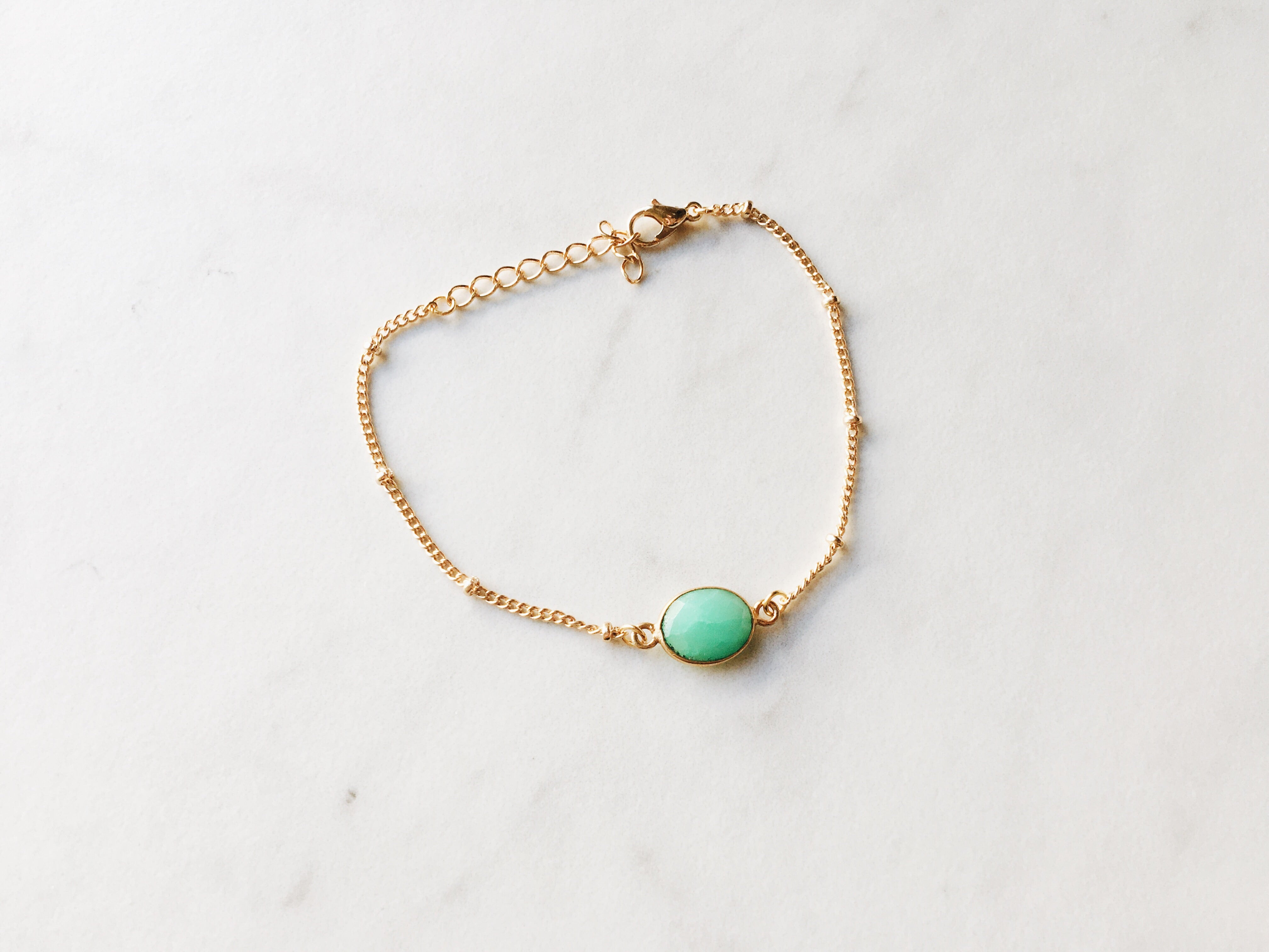 Everyday Bracelet in Green Chrysoprase