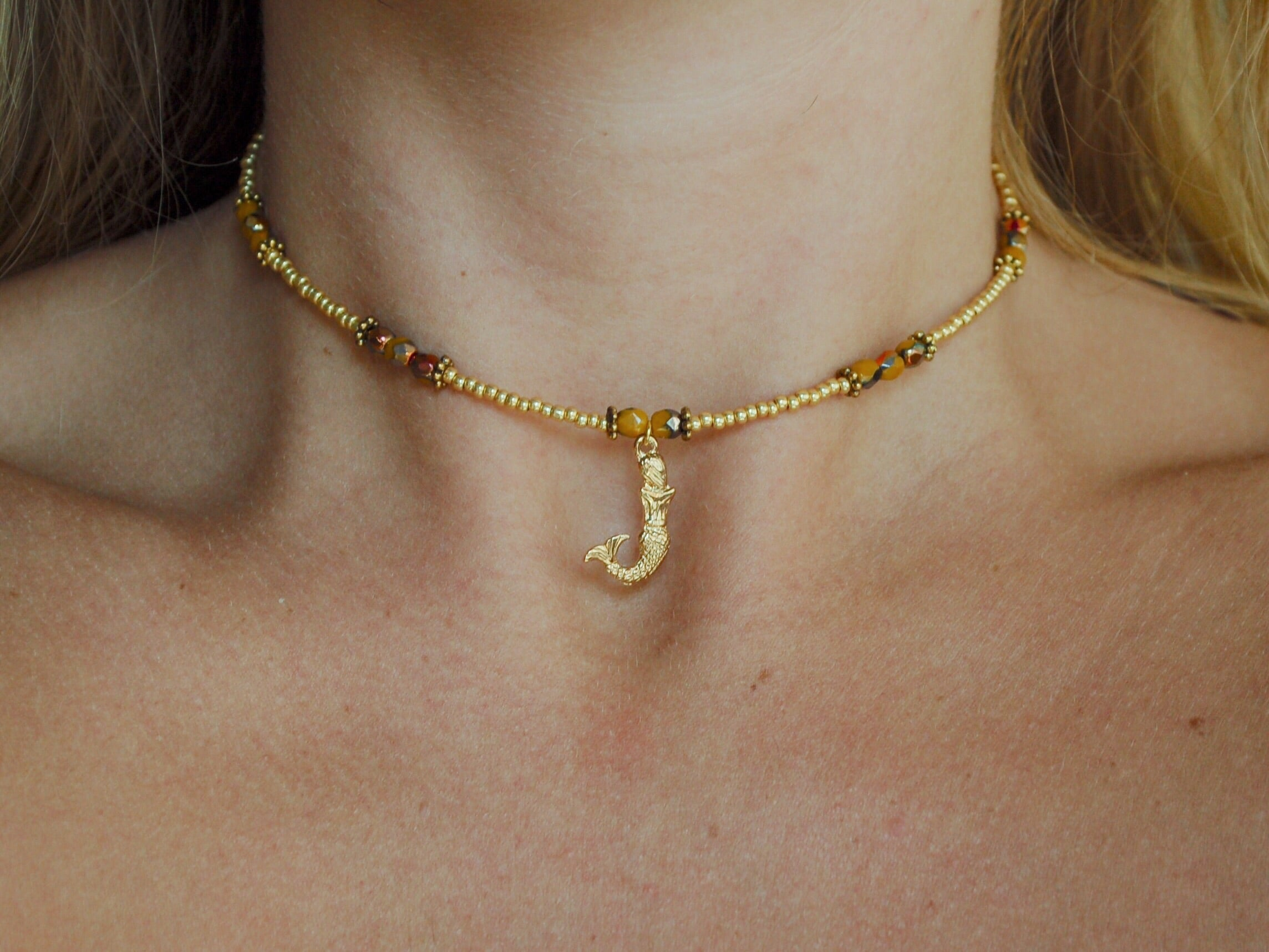 Golden Mermaid Choker