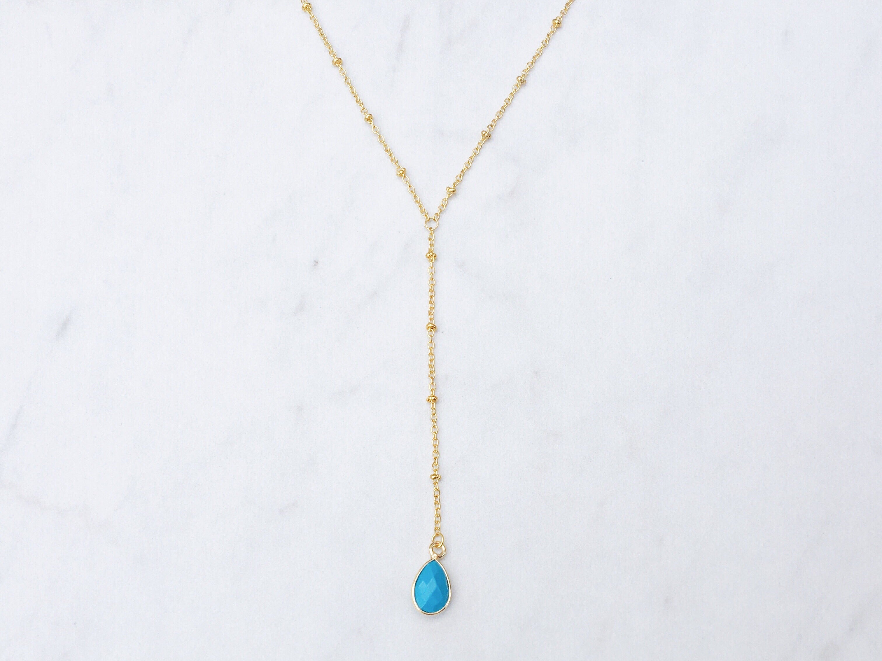 Delilah Lariat in Turquoise