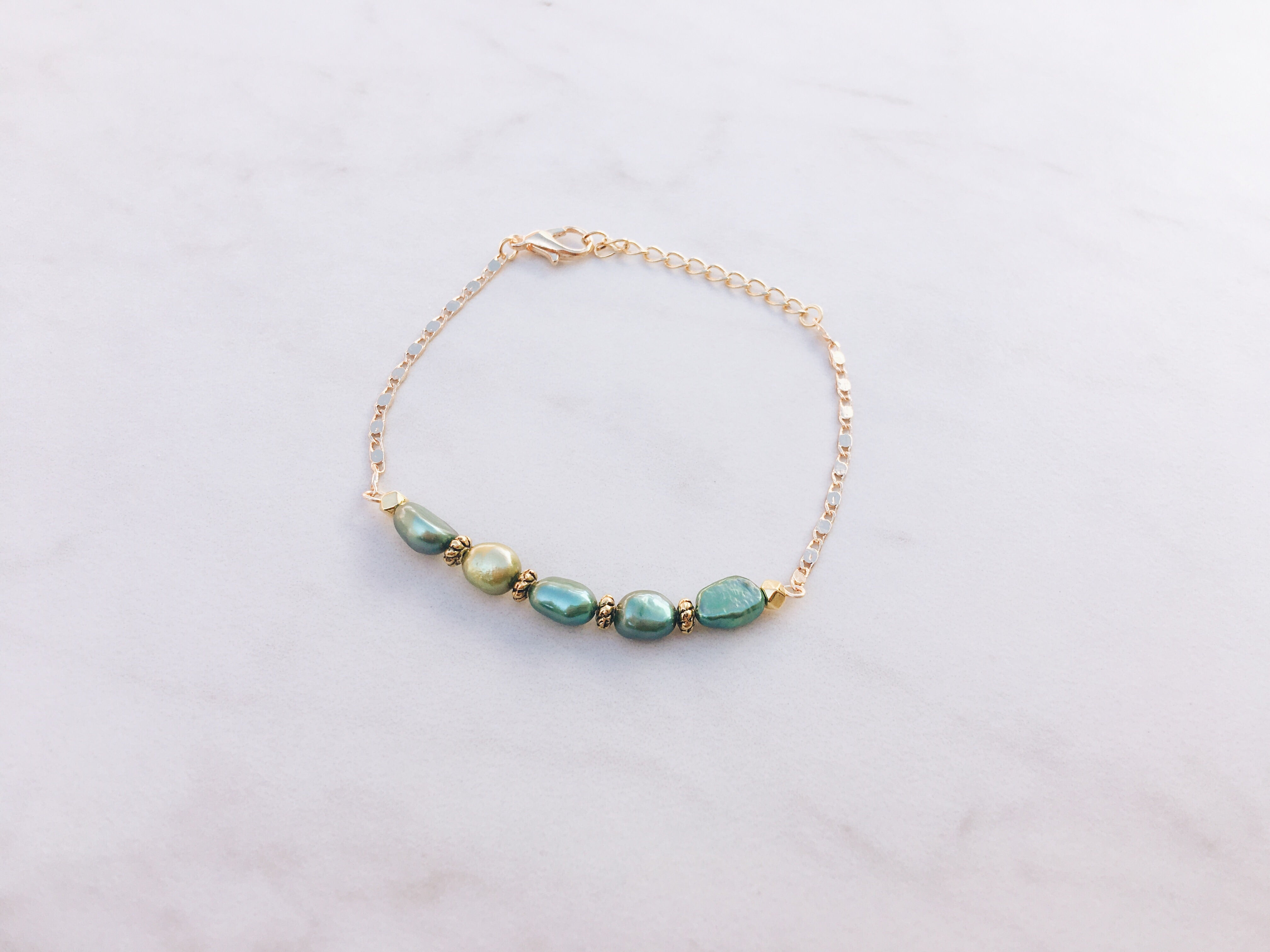 Jungle Goddess Pearl Bracelet