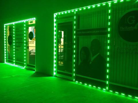 Green Color Storefront LED