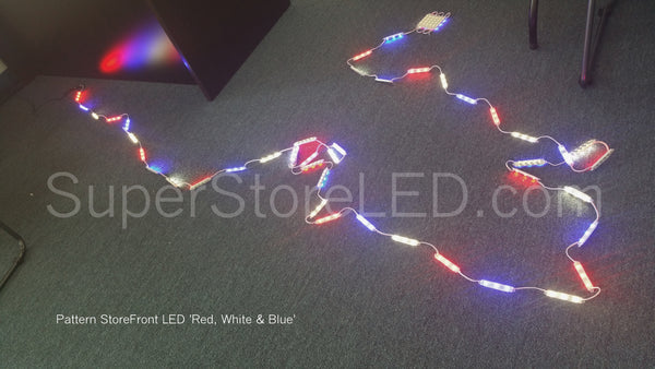 Red White and Blue LED