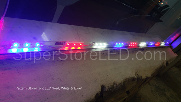Pattern Red White and Blue LED for Storefront