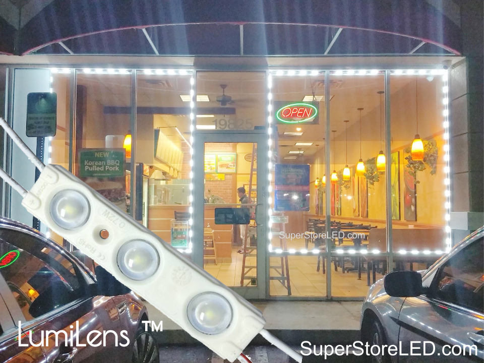 SuperStore LED brightest storefront led