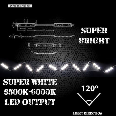 Truck Bed LED Kit Sizes