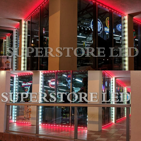 Red Color Storefront LED
