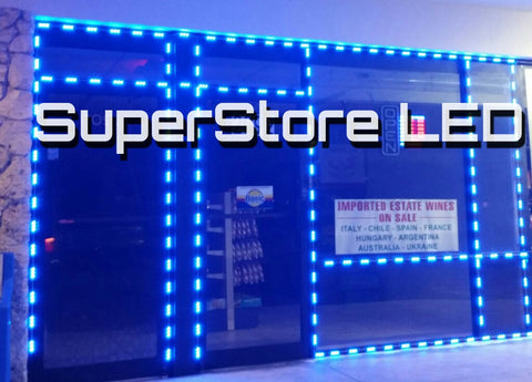 Blue color storefront LED