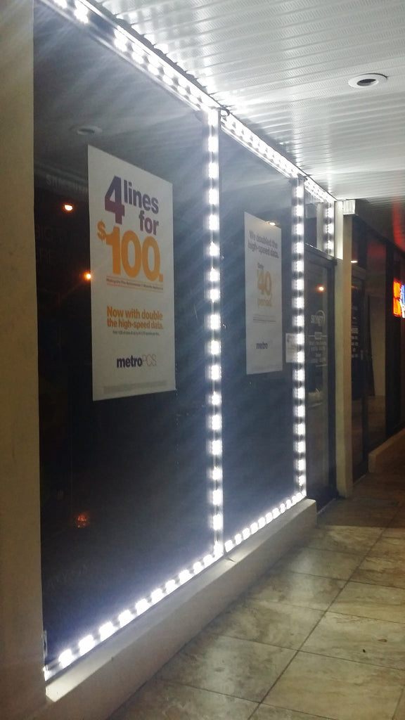 Single Color Storefront LED from, Lengths 5 ft - 100 ft