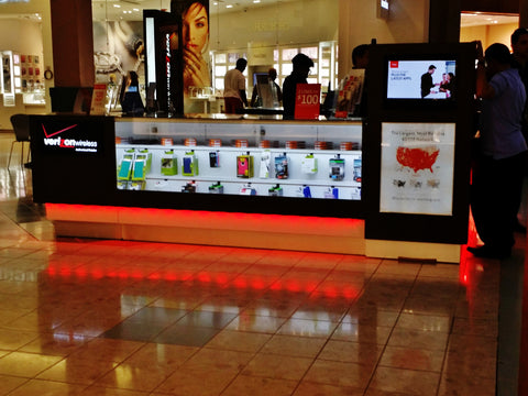 Retail Mall Kiosk LED ground kit, Lighting Kiosk, Kiosk Lighting