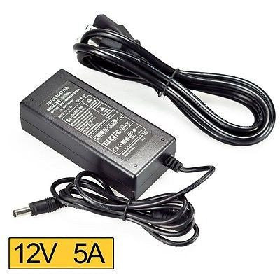 12V 5A, 60W Vertical Power Adapter DC 5 5/2 5mm with spring | Power Supply,  60W
