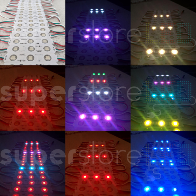 Chasing Multi-color LED Light + Pixel controller: 358 Chasing Pattern Effects