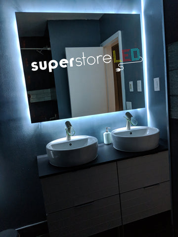 Bathroom Mirror  Backlit/Glow LED Kit