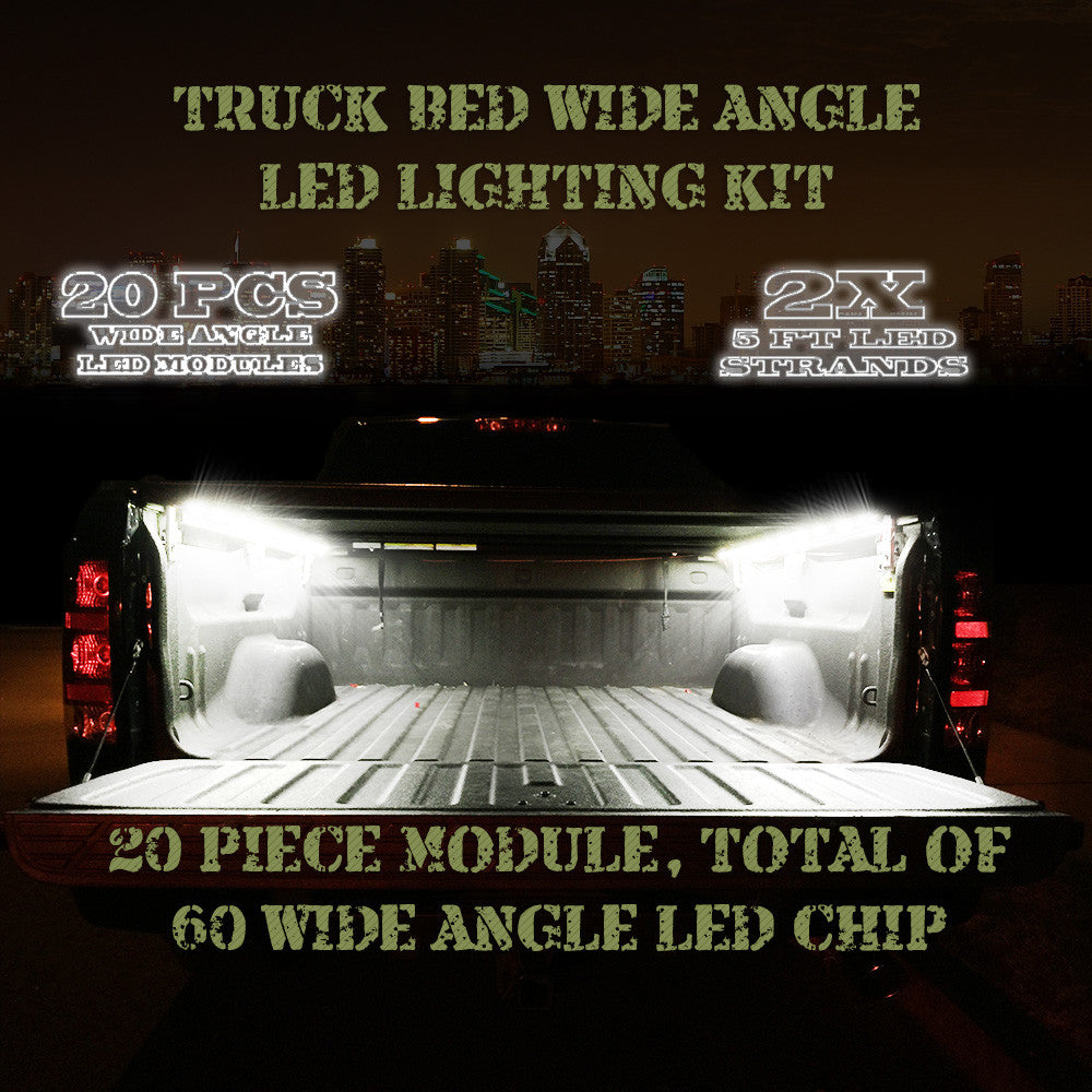 20 LED PODS Ford Truck Bed LED Kit -12V System