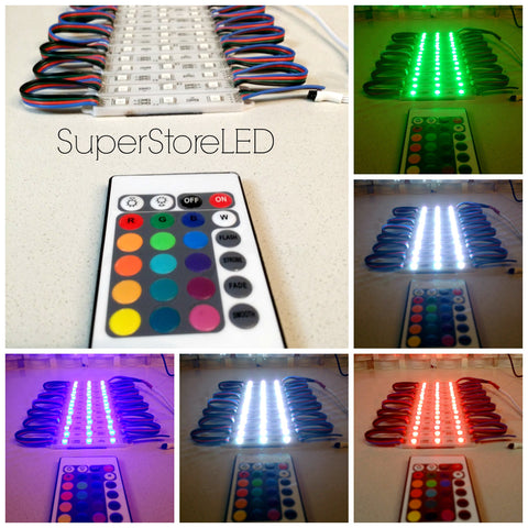 Multi-Color LED (RGB) Module Strips+ Wireless Controller/Flasher