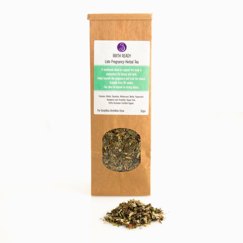 Birth Ready Herbal Tea 50gm late pregnancy birth labour preparation